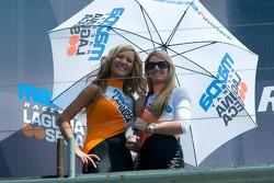 Lovely Laguna Seca umbrella girls