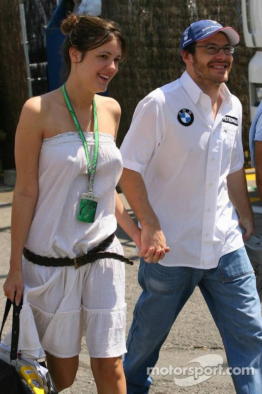 Jacques Villeneuve et sa petite amie Johanna