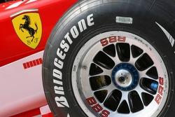 Detail shot of the Ferrari