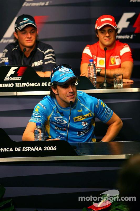 Conférence de presse de la FIA le jeudi: Fernando Alonso, Nico Rosberg et Felipe Massa