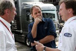 Motorsport consultant of Red Bull Helmut Marko, Gerhard Berger and Christian Horner