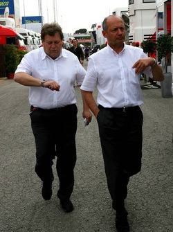 Norbert Haug and Ron Dennis