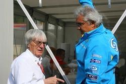 Bernie Ecclestone and Flavio Briatore