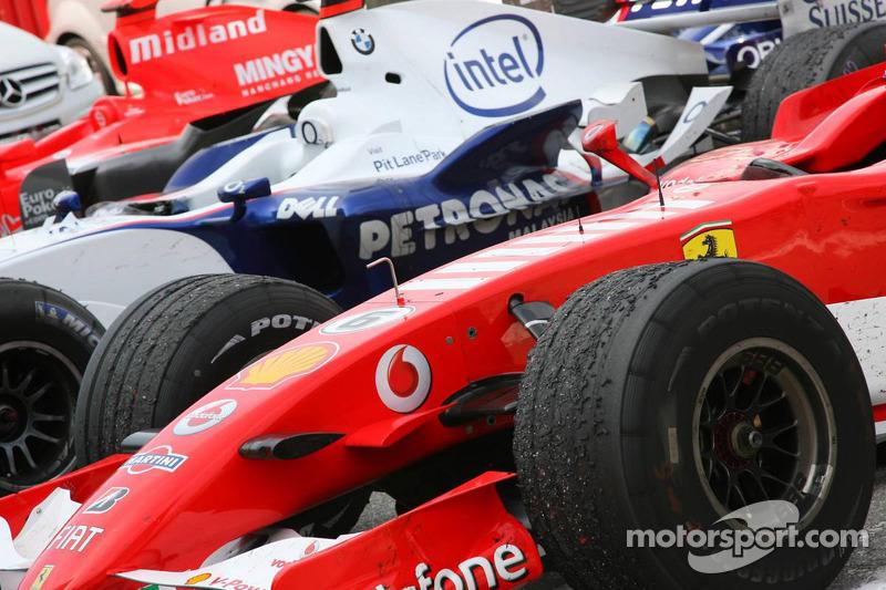 La voiture de Felipe Massa après la course