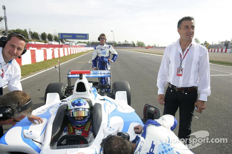 Olivier Pla avec Jean Alesi