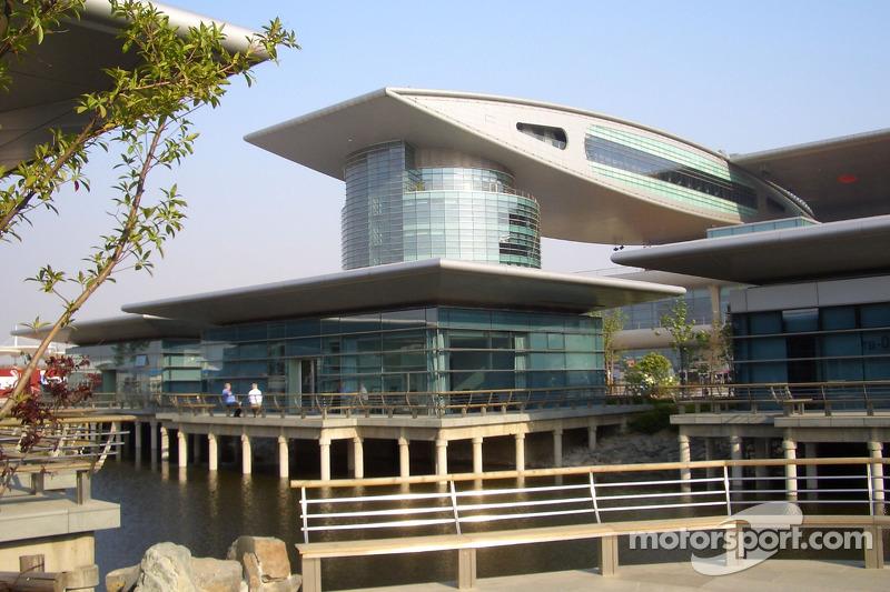 Paddock au circuit international de Shanghai
