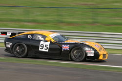 Exiting Pouhon - #95 Racesport Peninsula TVR TVR Tuscan T 400R: Richard Stanton, John Hartshorne, Nigel Greensall