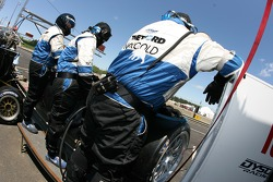 Dyson Racing crew members ready for a pitstop