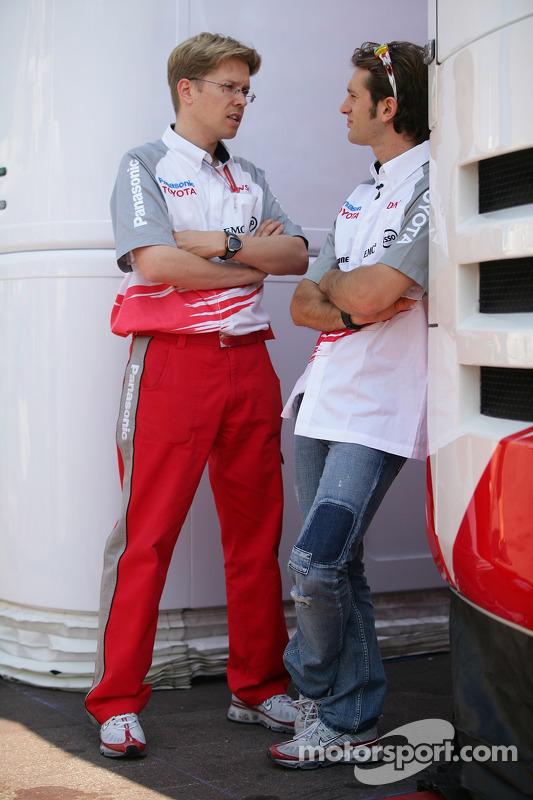 Ossi Oikarinen et Jarno Trulli
