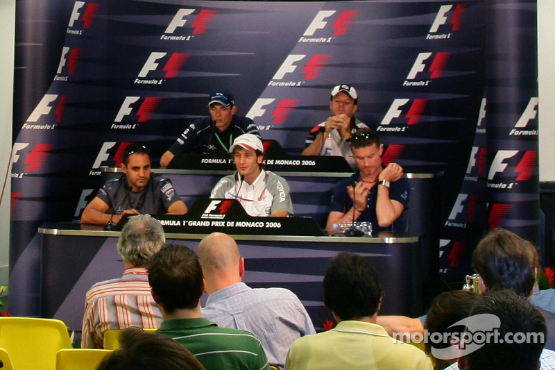 Conférence de presse de la FIA: Rubens Barrichello, David Coulthard, Juan Pablo Montoya, Jarno Trulli et Alexander Wurz