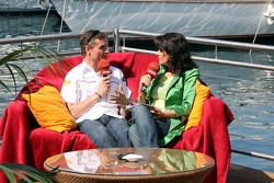 David Coulthard gives an interview to Tanja Bauer