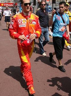 Michael Schumacher wears new suit for the Monaco GP