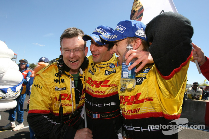 Les vainqueurs Timo Bernhard et Romain Dumas