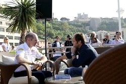 Chilled Thursday: chief technical officer Adrian Newey and co-owner Gerhard Berger