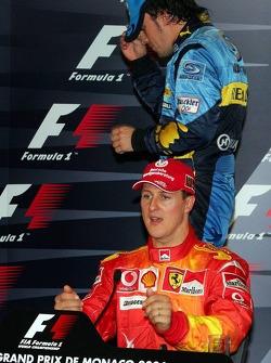 FIA press conference: Michael Schumacher and Fernando Alonso