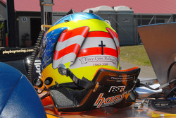 Michael McDowell's helmet honors his late mother Tracy