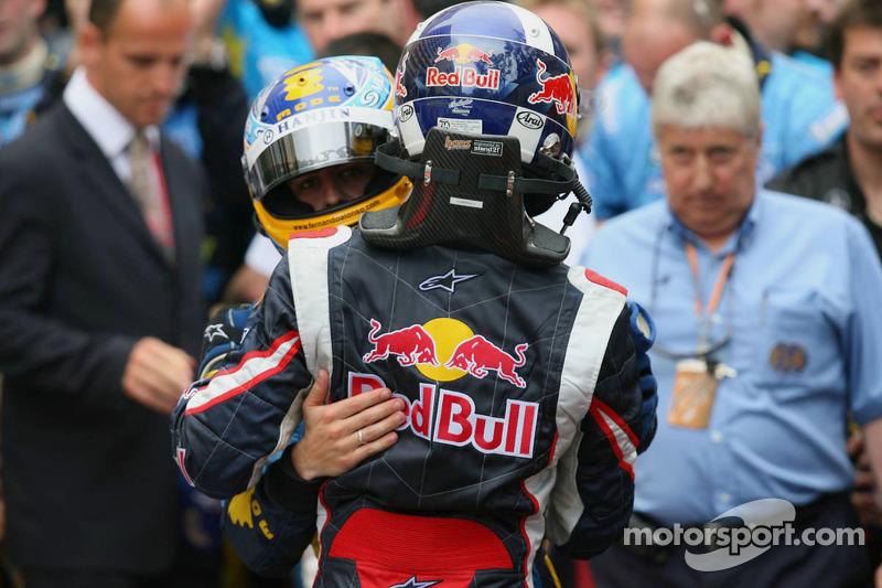 Fernando Alonso avec David Coulthard