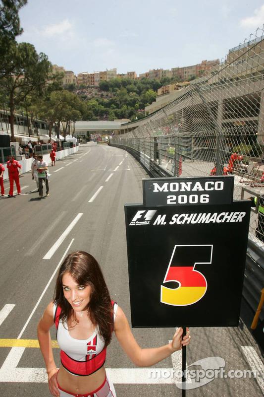 Bloque el comenzar vacía para Michael Schumacher
