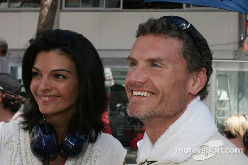 David Coulthard y novia Karen Minier