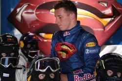 Christian Klien after his race in the garage