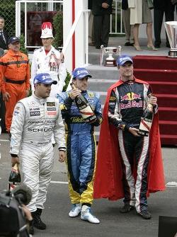 Juan Pablo Montoya, Fernando Alonso and David Coulthard