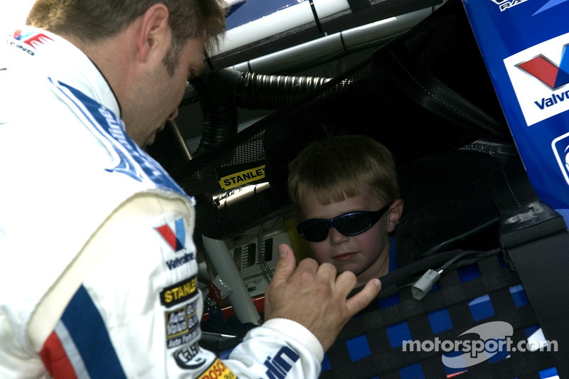 Scott Riggs et son fils