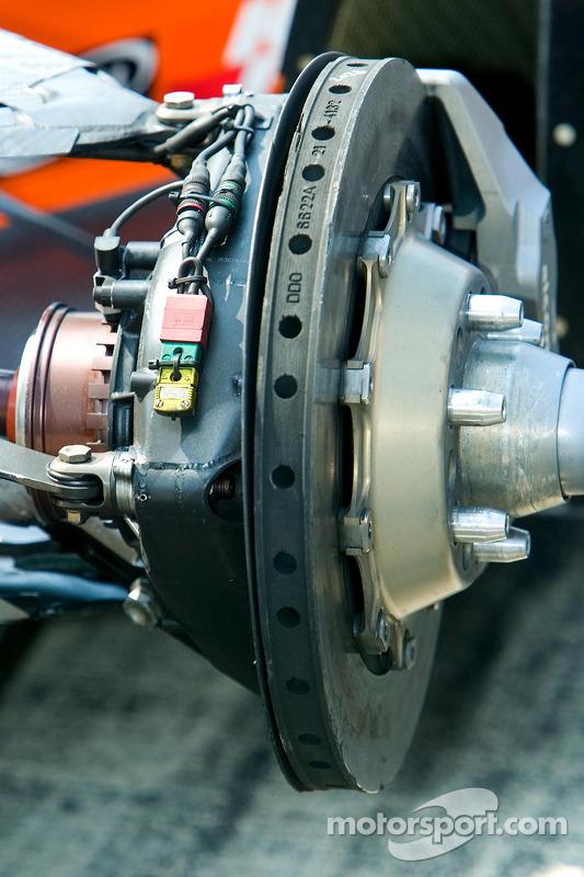 Assemblage des freins arrières de IndyCar