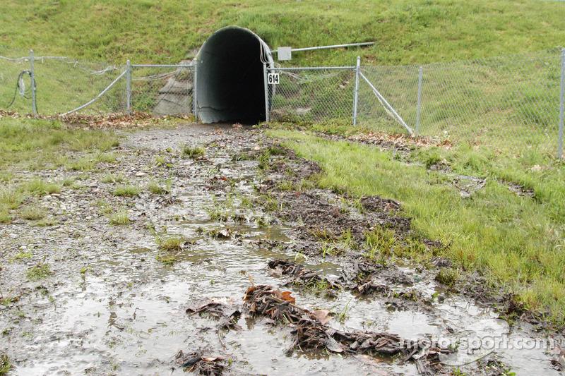Beaucoup d'eau dans les tunnels