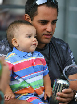 Juan Pablo Montoya with his son Sebastian