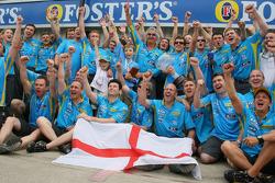 Renault team celebrates
