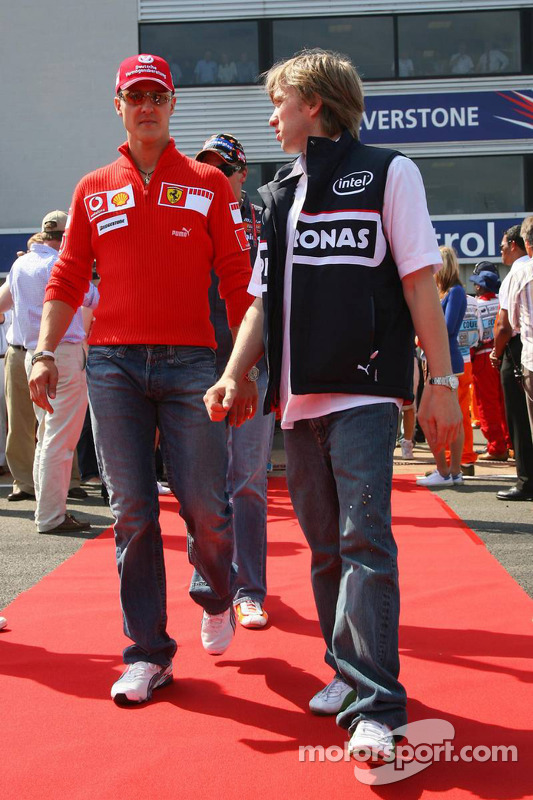 Michael Schumacher y Nick Heidfeld