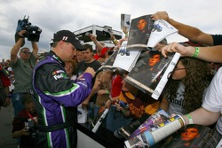 Denny Hamlin signs autographs for fans