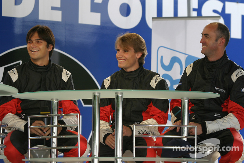 Nelson A. Piquet, Antonio Garcia et David Brabham