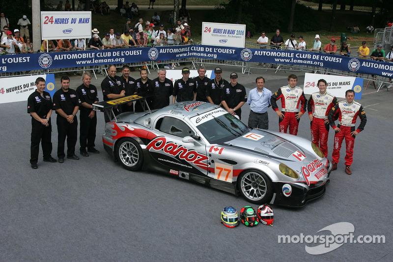 Gunnar Jeannette, Tom Milner, Scott Maxwell, et l'équipe Multimatic Motorsports avec la Multimatic Motorsports Team Panoz Panoz Esperante GTLM