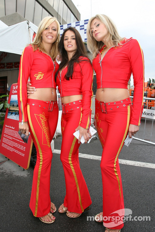 De charmantes jeunes femmes Budweiser