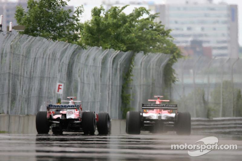 Ralf Schumacher et Tiago Monteiro