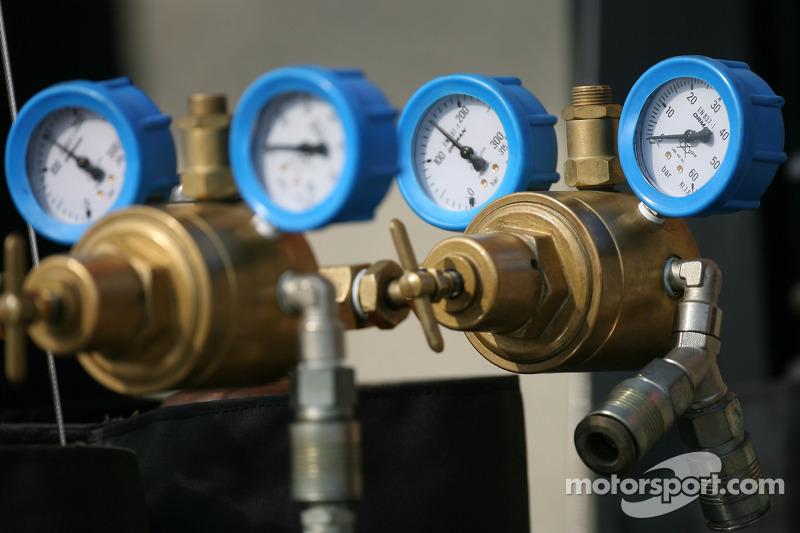 La jauge de la pression d'air