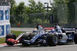 Juan Pablo Montoya and Nico Rosberg make contact