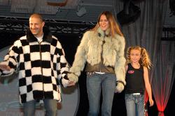 Tony et Danni Kanaan avec Calysta Herta