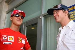 Michael Schumacher and Scott Speed