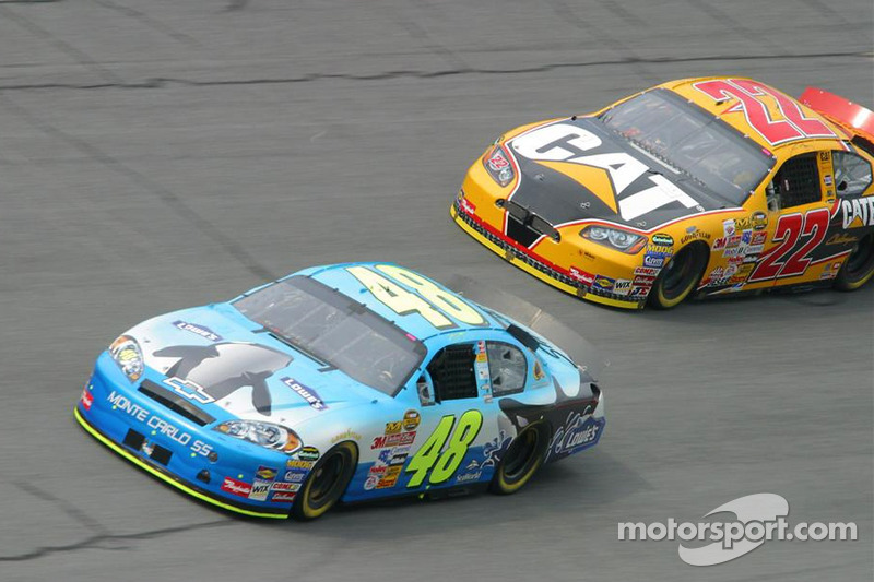 Jimmie Johnson et Dave Blaney