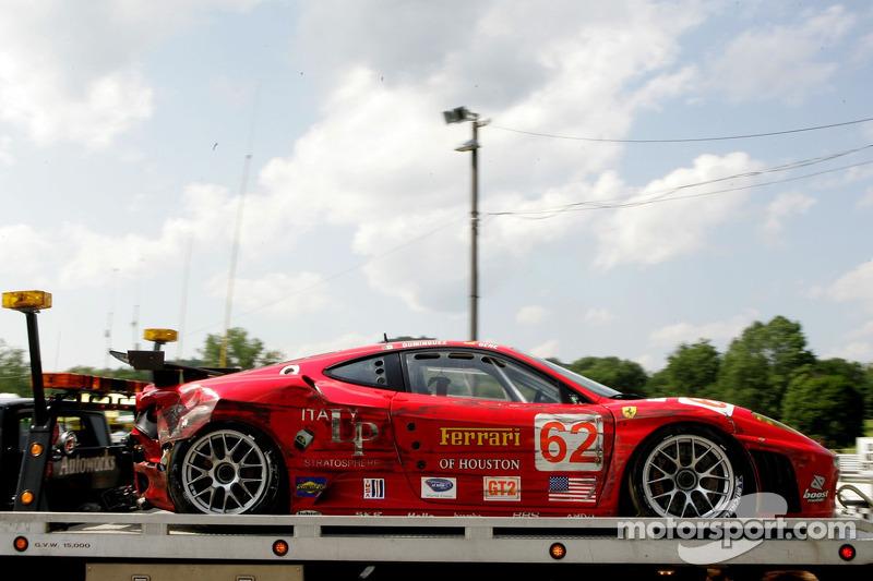 La Risi Competizione Ferrari 430 GT Berlinetta endommagée