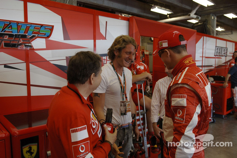 Jean Todt, Lapo Elkann et Michael Schumacher