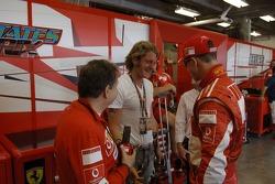 Jean Todt, Lapo Elkann and Michael Schumacher