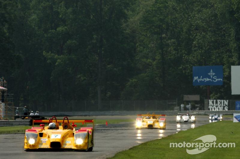 #7 Penske Motorsports Porsche RS Spyder: Timo Bernhard, Romain Dumas en tête