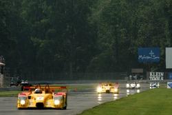 #7 Penske Motorsports Porsche RS Spyder: Timo Bernhard, Romain Dumas in the lead