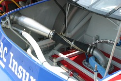 Detailed view of the trunk area of Brian Vicker's car