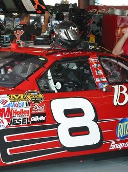 Dale Earnhardt Jr.'s helmet sits ready