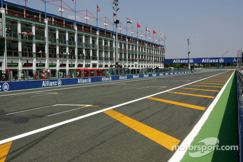 The start-finish straight at Magny Cours