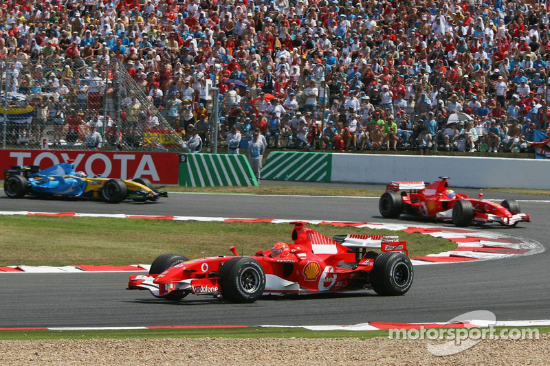 Michael Schumacher, Felipe Massa et Fernando Alonso